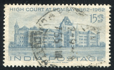 INDIA - CIRCA 1962: stamp printed by India, shows High Court at Bombay, circa 1962 Stock Photo - 16285309