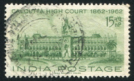 INDIA - CIRCA 1962: stamp printed by India, shows High Court, Calcutta, circa 1962 Stock Photo - 16285461