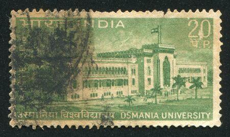 INDIA - CIRCA 1969: stamp printed by India, shows Osmania University, circa 1969 Stock Photo - 16285469