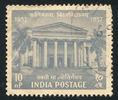 INDIA - CIRCA 1957: stamp printed by India, shows University in Calcutta, circa 1957 Stock Photo - 16285081