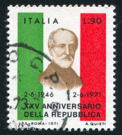 ITALY - CIRCA 1971: stamp printed by Italy, shows Giuseppe Mazzini, circa 1971 Stock Photo - 16285264