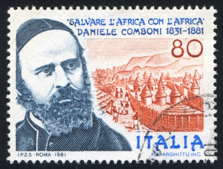 ITALY - CIRCA 1981: stamp printed by Italy, shows Daniele Comboni, circa 1981 Stock Photo - 16285196