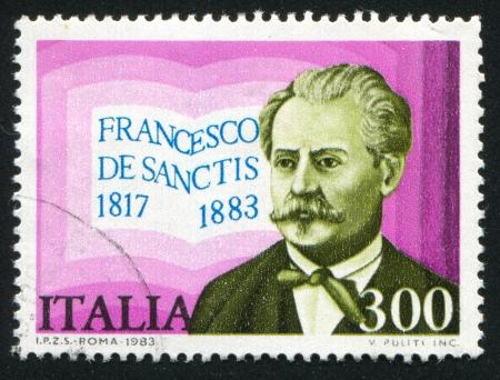 ITALY - CIRCA 1983: stamp printed by Italy, shows Francesco de Sanctis, circa 1983 Stock Photo - 16285361