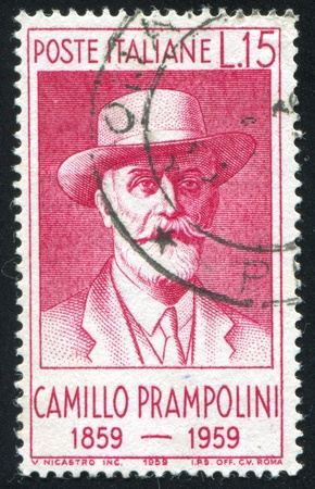 ITALY - CIRCA 1959: stamp printed by Italy, shows Camillo Prampolini, circa 1959 Stock Photo - 16285079