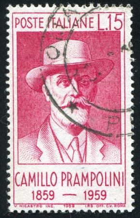 camillo: ITALY - CIRCA 1959: stamp printed by Italy, shows Camillo Prampolini, circa 1959