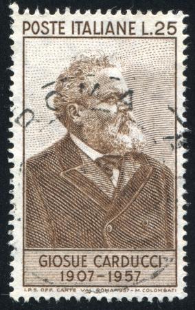 ITALY - CIRCA 1957: stamp printed by Italy, shows Giosue Carducci, circa 1957 Stock Photo - 16285190