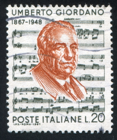 ITALY - CIRCA 1967: stamp printed by Italy, shows Umberto Giordano, circa 1967 Stock Photo - 16285099