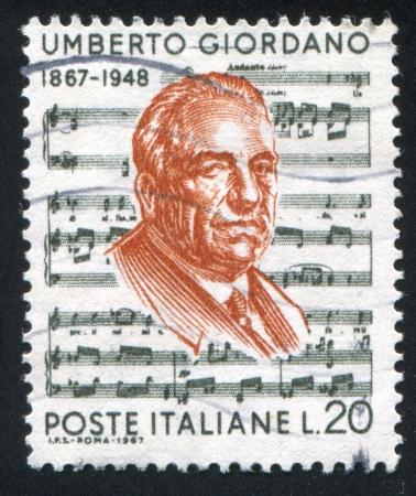 ITALY - CIRCA 1967: stamp printed by Italy, shows Umberto Giordano, circa 1967 Stock Photo - 16285099