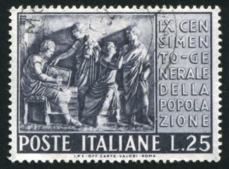 ITALY - CIRCA 1951: stamp printed by Italy, shows Roman census, circa 1951