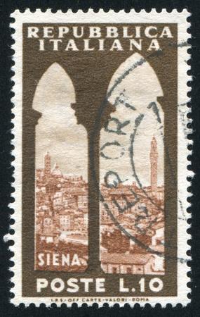 ITALY - CIRCA 1953: stamp printed by Italy, shows Siena, circa 1953 Stock Photo - 16285061