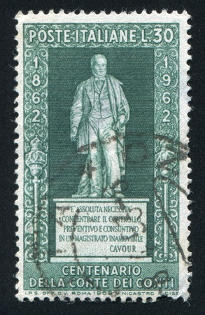 ITALY - CIRCA 1962: stamp printed by Italy, shows Statue of count Camillo Bensi di Cavour, circa 1962 Stock Photo - 16285272