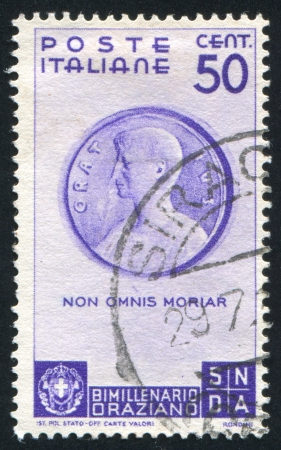 horace: ITALY - CIRCA 1936: stamp printed by Italy, shows Bust of Horace, circa 1936