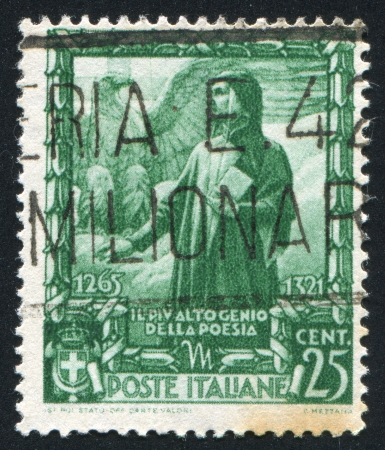 ITALY - CIRCA 1938: stamp printed by Italy, shows Dante, circa 1938