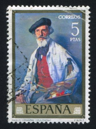 SPAIN - CIRCA 1971: stamp printed by Spain, shows portrait of Pablo Uranga, circa 1971 Stock Photo - 16285271
