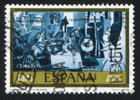ruiz: SPAIN - CIRCA 1978: stamp printed by Spain, shows The Meninas (Pablo Ruiz Picasso), circa 1978