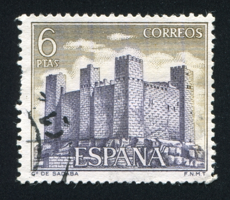 window seal: SPAIN - CIRCA 1970: stamp printed by Spain, shows Sadaba, circa 1970