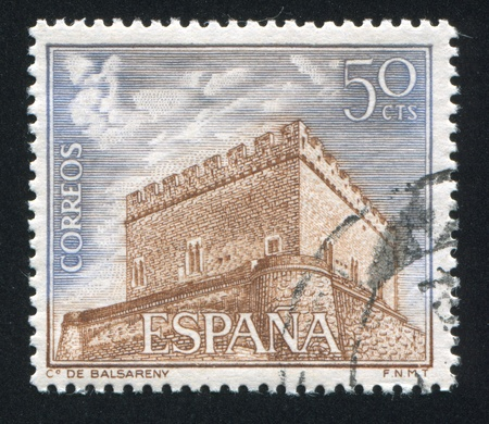 SPAIN - CIRCA 1967: stamp printed by Spain, shows Balsareny, circa 1967