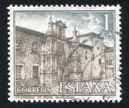 SPAIN - CIRCA 1970: stamp printed by Spain, shows University of Onate, Guipuzcoa, circa 1970 Stock Photo - 16285246