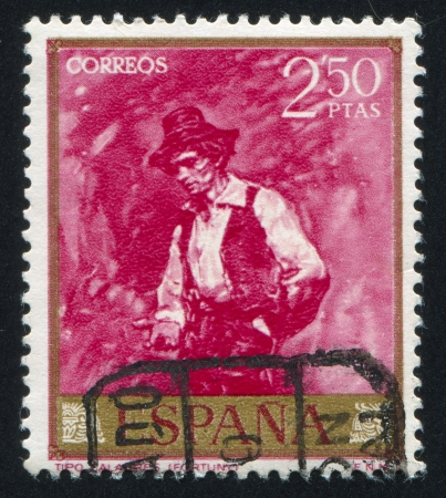 SPAIN - CIRCA 1968: stamp printed by Spain, shows picture of Calabrian Man, circa 1968 Stock Photo - 16285148