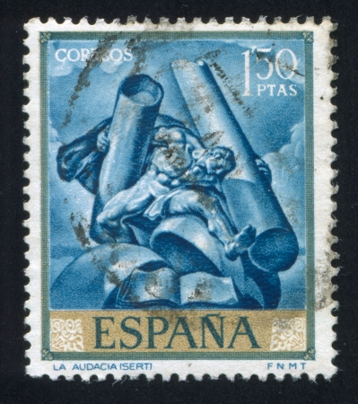 SPAIN - CIRCA 1966: stamp printed by Spain, shows picture of Audasity, circa 1966 Editöryel
