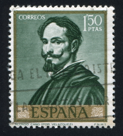 SPAIN - CIRCA 1969: stamp printed by Spain, shows Alonso Cano by Velazquez, circa 1969 Stock Photo - 16285112