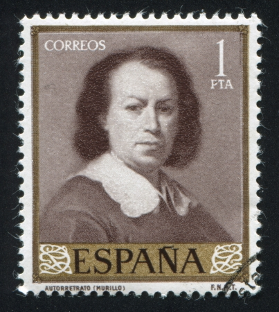 adeptness: SPAIN - CIRCA 1960: stamp printed by Spain, shows Self Portrait by Murillo, circa 1960