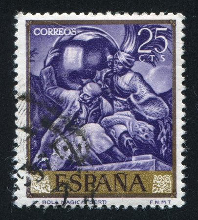 SPAIN - CIRCA 1966: stamp printed by Spain, shows Magic Ball by Sert, circa 1966
