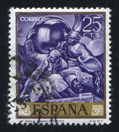 SPAIN - CIRCA 1966: stamp printed by Spain, shows Magic Ball by Sert, circa 1966