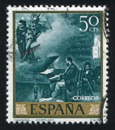 adeptness: SPAIN - CIRCA 1968: stamp printed by Spain, shows Fantasy by Fortuny, circa 1968