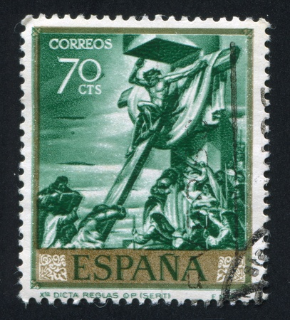 SPAIN - CIRCA 1966: stamp printed by Spain, shows Crucifix by Sert, circa 1966 Editöryel