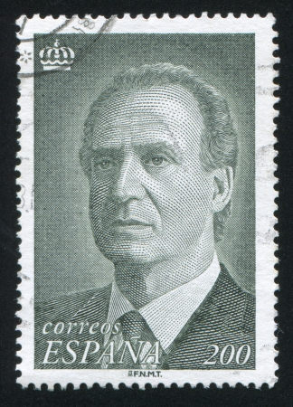SPAIN - CIRCA 1993: stamp printed by Spain, shows King Juan Carlos I, circa 1993 Stock Photo - 16285492