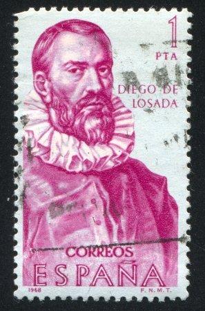SPAIN - CIRCA 1968: stamp printed by Spain, shows Diego de Losada, circa 1968 Stock Photo - 16285299