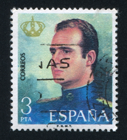 SPAIN - CIRCA 1975: stamp printed by Spain, shows King Juan Carlos I, circa 1975 Stock Photo - 16285386