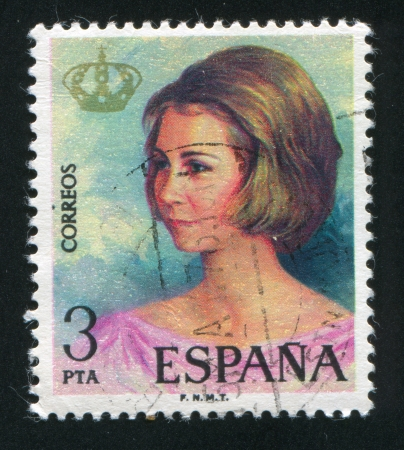 SPAIN - CIRCA 1975: stamp printed by Spain, shows Qween Sofia, circa 1975 Stock Photo - 16285097