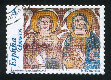 SPAIN - CIRCA 2004: stamp printed by Spain, shows Apostles, circa 2004 Stock Photo - 16285398