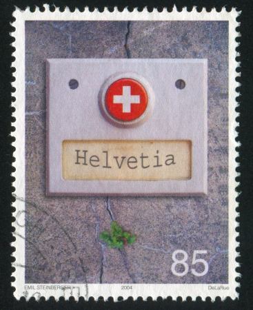 SWITZERLAND - CIRCA 2004: stamp printed by Switzerland, shows Doorbell Button, circa 2004 Stock Photo - 16285306