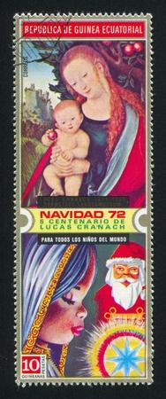 EQUATORIAL GUINEA - CIRCA 1972: stamp printed by Equatorial Guinea, shows Christmas, circa 1972