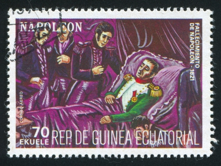 EQUATORIAL GUINEA - CIRCA 1972: stamp printed by Equatorial Guinea, Death of Napoleon, circa 1972
