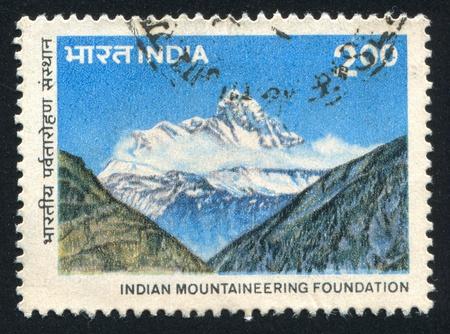 INDIA - CIRCA 1983: stamp printed by India, shows Himalayas, circa 1983