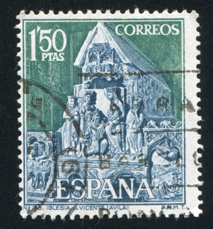 SPAIN - CIRCA 1968: stamp printed by Spain, shows Statuary group from Saint Vincent's Church in Avila, circa 1968
