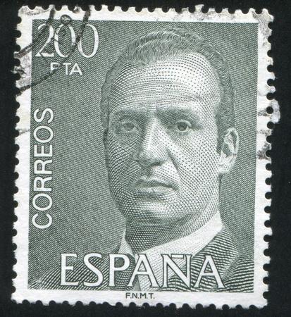SPAIN - CIRCA 1993: stamp printed by Spain, shows King Juan Carlos I, circa 1993 Stock Photo - 16337894