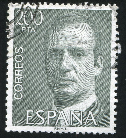 SPAIN - CIRCA 1993: stamp printed by Spain, shows King Juan Carlos I, circa 1993 Stock Photo - 16337894