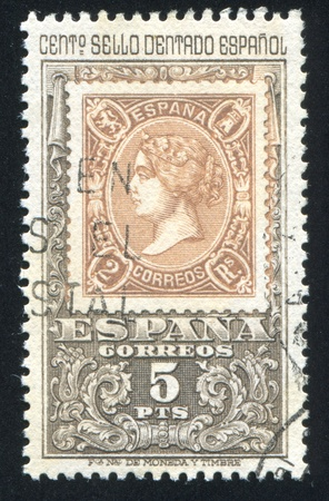 isabel: SPAIN - CIRCA 1965: stamp printed by Spain, shows Queen Isabel, circa 1965