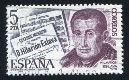 hilarion: SPAIN - CIRCA 1978: stamp printed by Spain, shows Hilarion Eslava, circa 1978