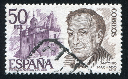 ruiz: SPAIN - CIRCA 1978: stamp printed by Spain, shows Antonio Machado Ruiz, circa 1978