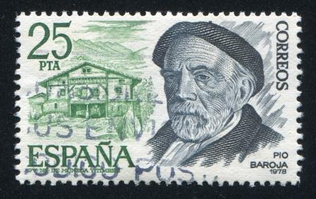 pio: SPAIN - CIRCA 1978: stamp printed by Spain, shows Pio Baroja, circa 1978