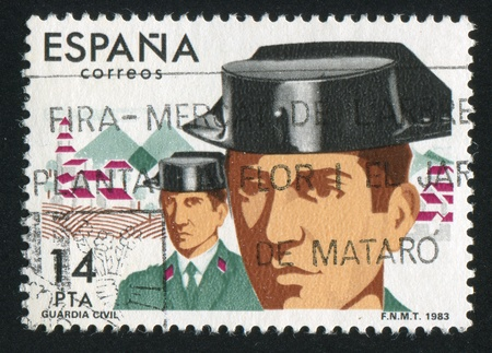 SPAIN - CIRCA 1983: stamp printed by Spain, shows Civil Guard, circa 1983