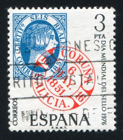 queen isabella: SPAIN - CIRCA 1976: stamp printed by Spain, shows Isabella, circa 1976 Editorial