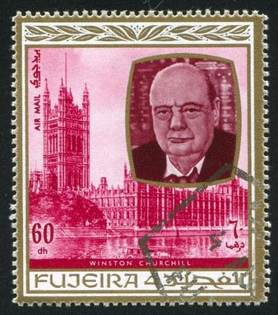 fujeira: FUJEIRA - CIRCA 1976: stamp printed by Fujeira, shows Winston Churchill, circa 1976