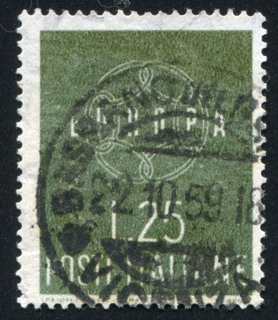 signifier: ITALY - CIRCA 1959: stamp printed by Italy, shows Chain, circa 1959 Editorial